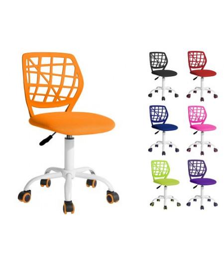 Sedia da scrivania per bambini e ragazzi con rotelle - Blu